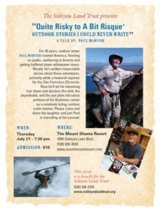 "Paul McHugh will be giving a ""risque"" talk in Mount Shasta on July 21, 2011."