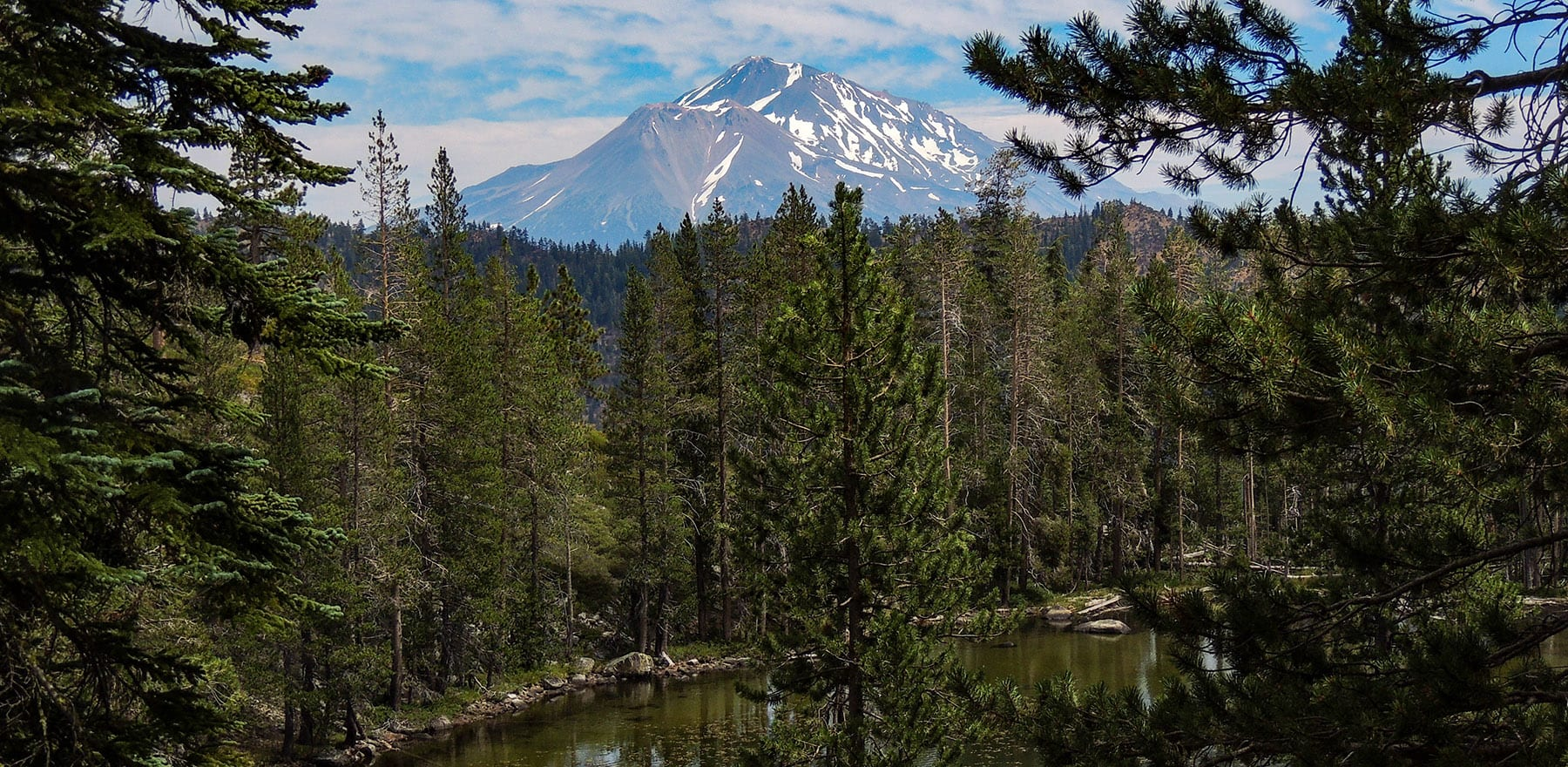 Lower Caldwell Lake and Mt Shasta